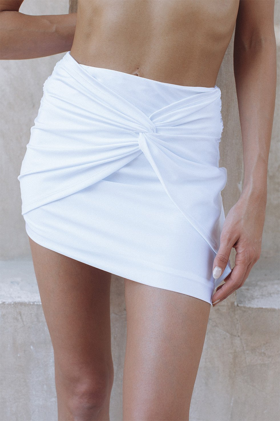 MARMONT MINI SKIRT - WHITE (6246560891058)