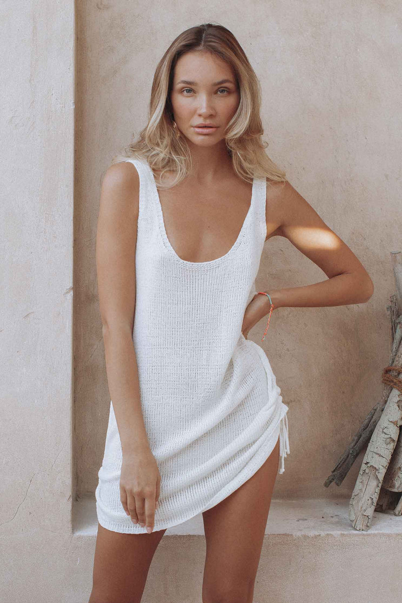 BYRON DRESS - WHITE (4723959955545)