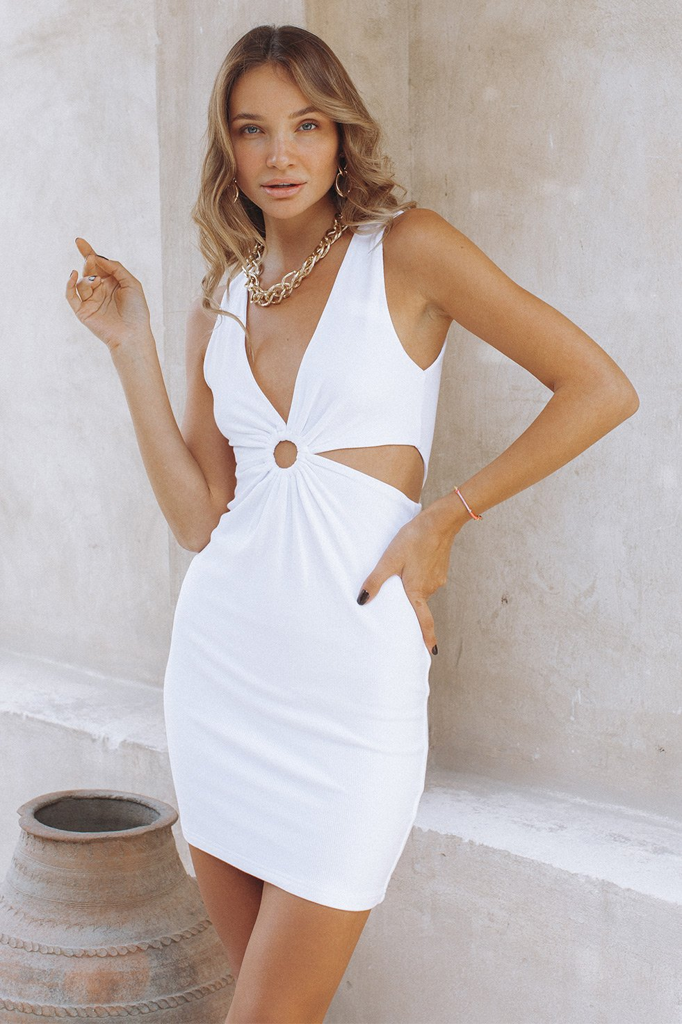 KNOXLEE DRESS - WHITE (6275265429682)