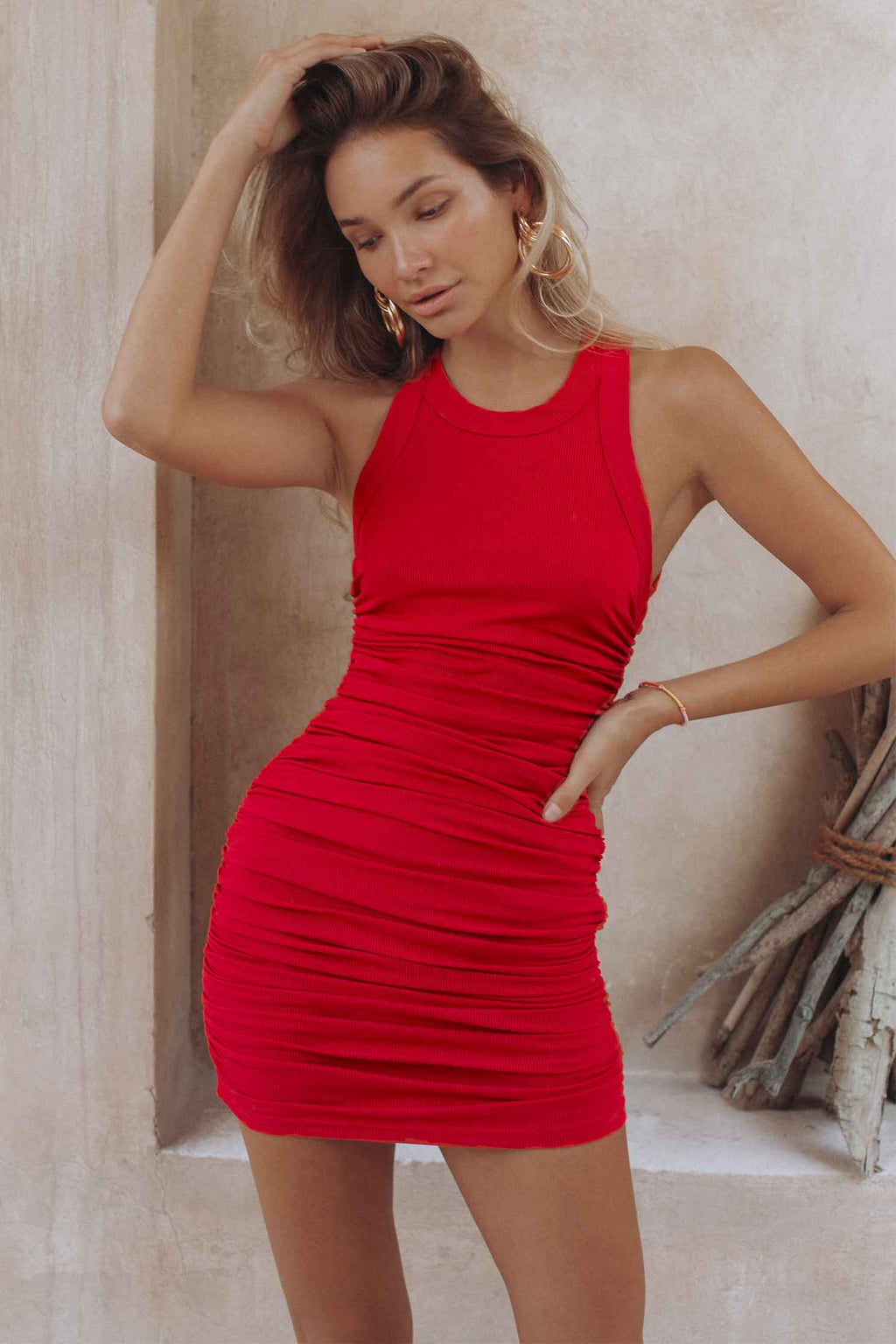 ESSENTIAL DRESS - RED (6045300555954)