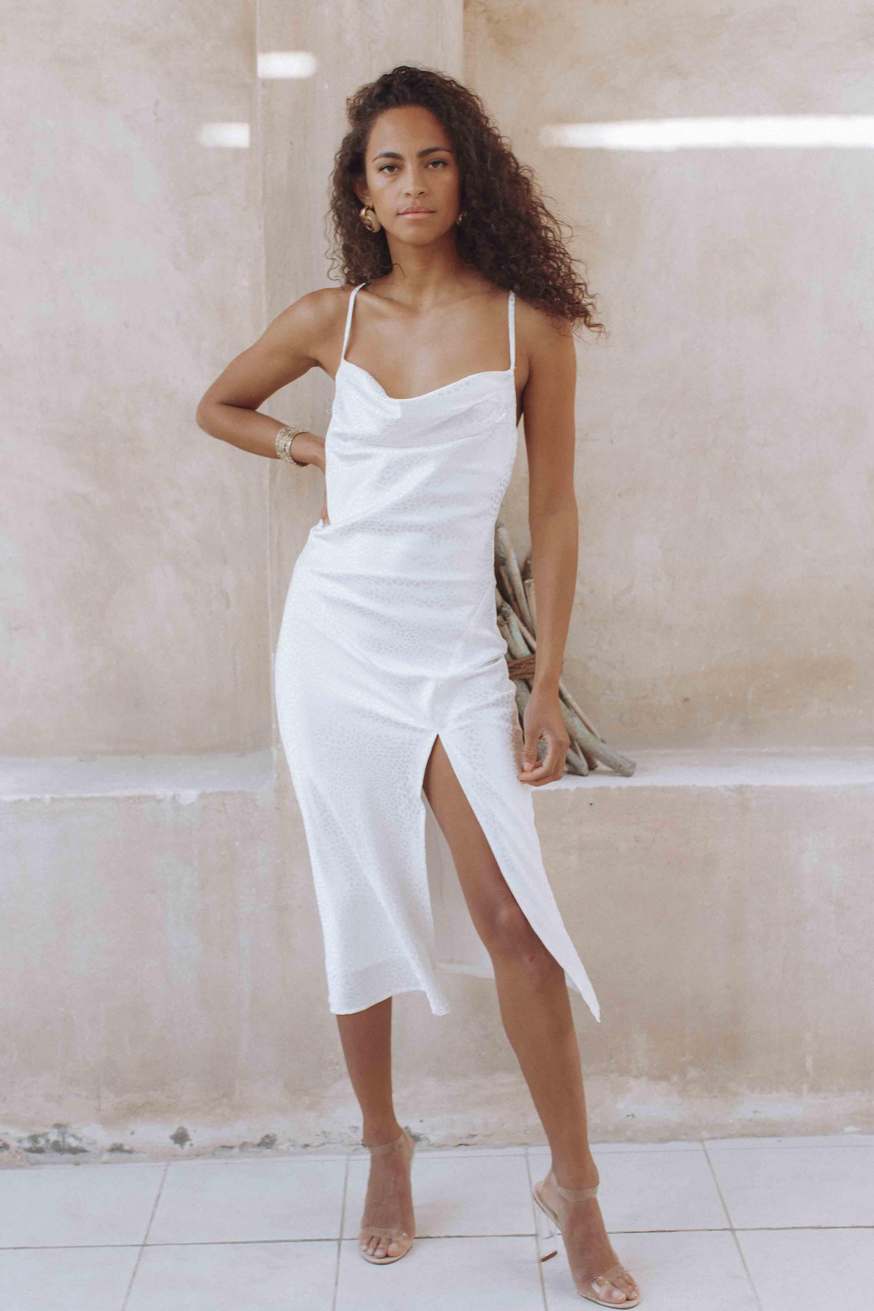 ISLE OF WHITE SLIP DRESS - WHITE (4679200637017)