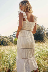 MADELINE DRESS - IVORY | Women's Online Shopping | CHICLEFRIQUE  (4479342706777)