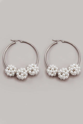 REINA STONE HOOP EARRINGS