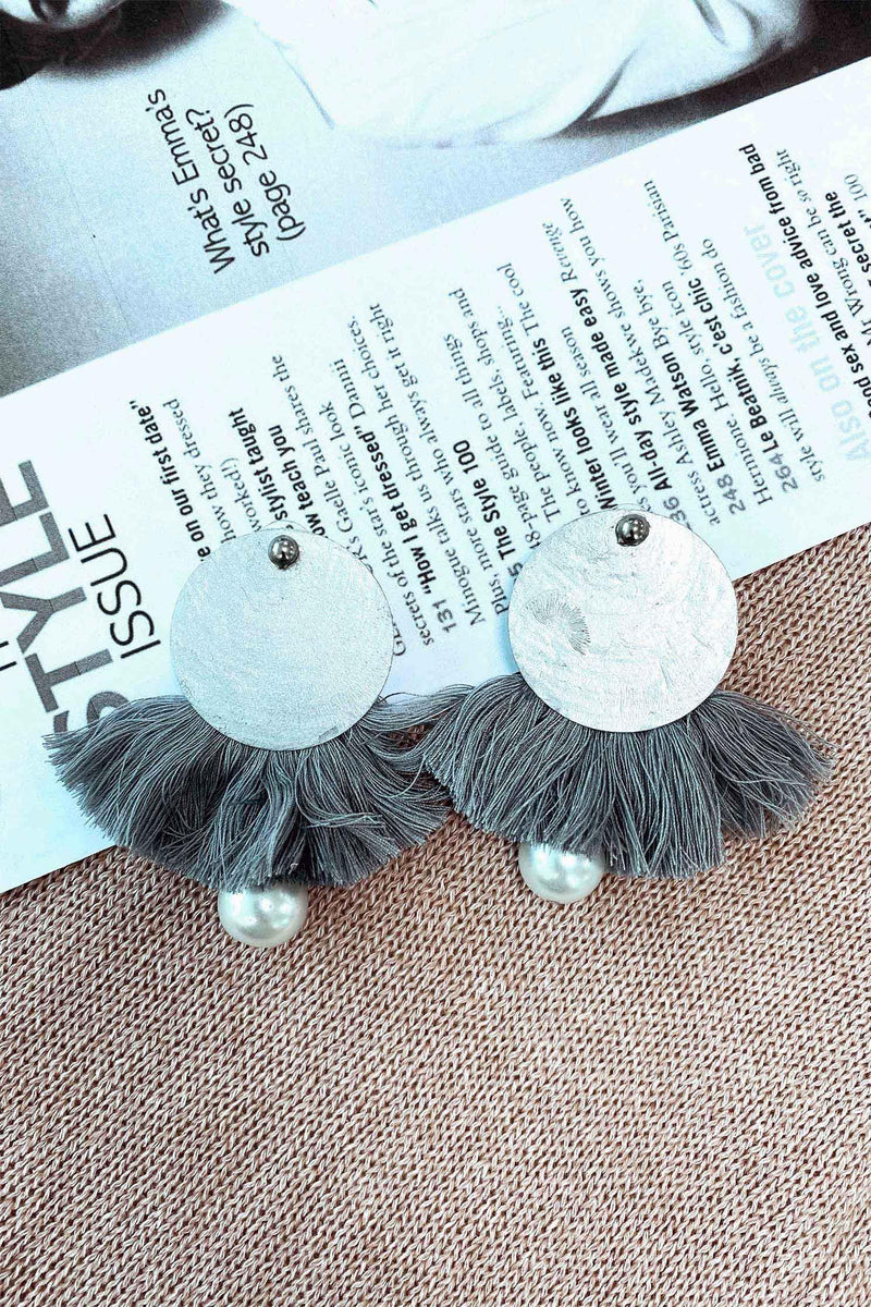 DELFHINE EARRINGS - GREY (4490178494553)
