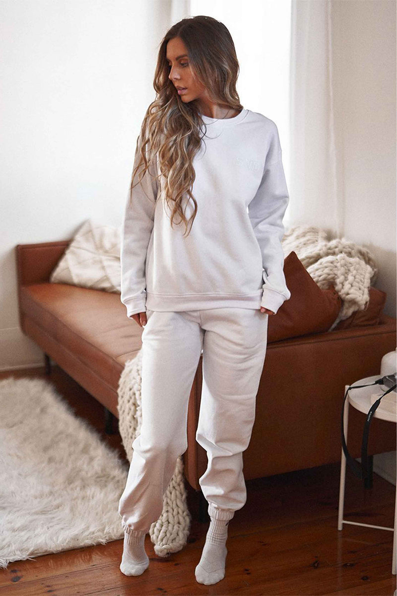 LUXE SWEATPANTS - WHITE (4695901306969)