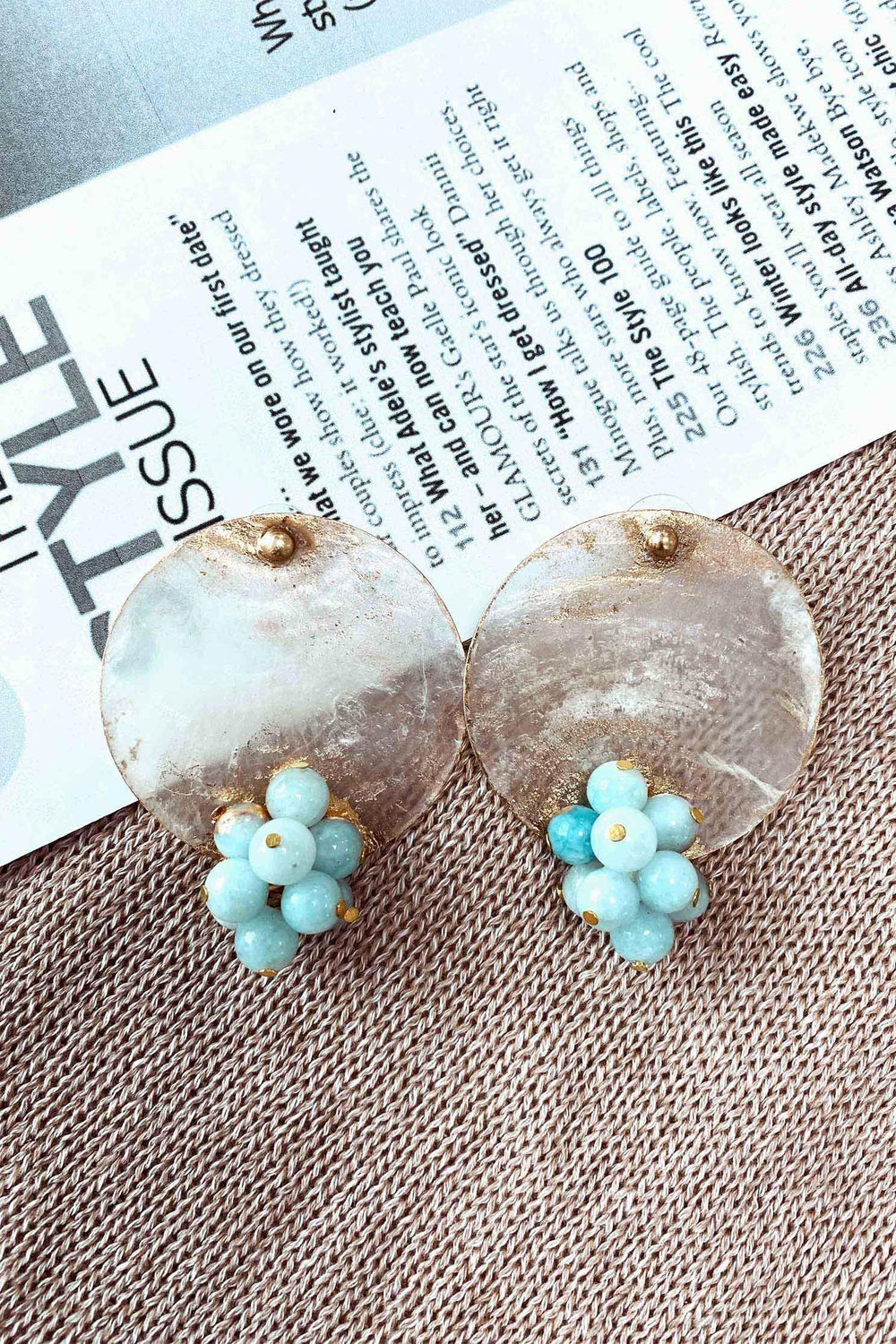 EDITH EARRINGS - BLUE