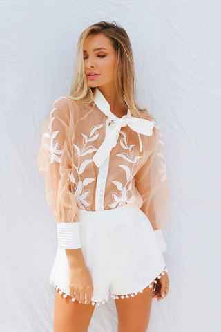 ALESSANDRA PLAYSUIT IN CREAM