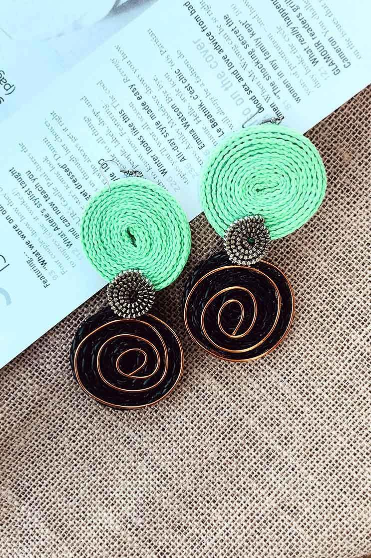 GREEN EARRINGS (4655729279065)