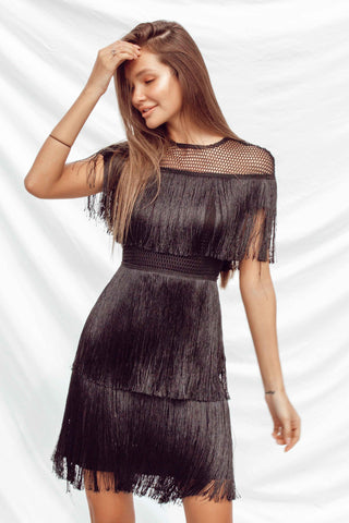 DINA DRESS IN BLACK