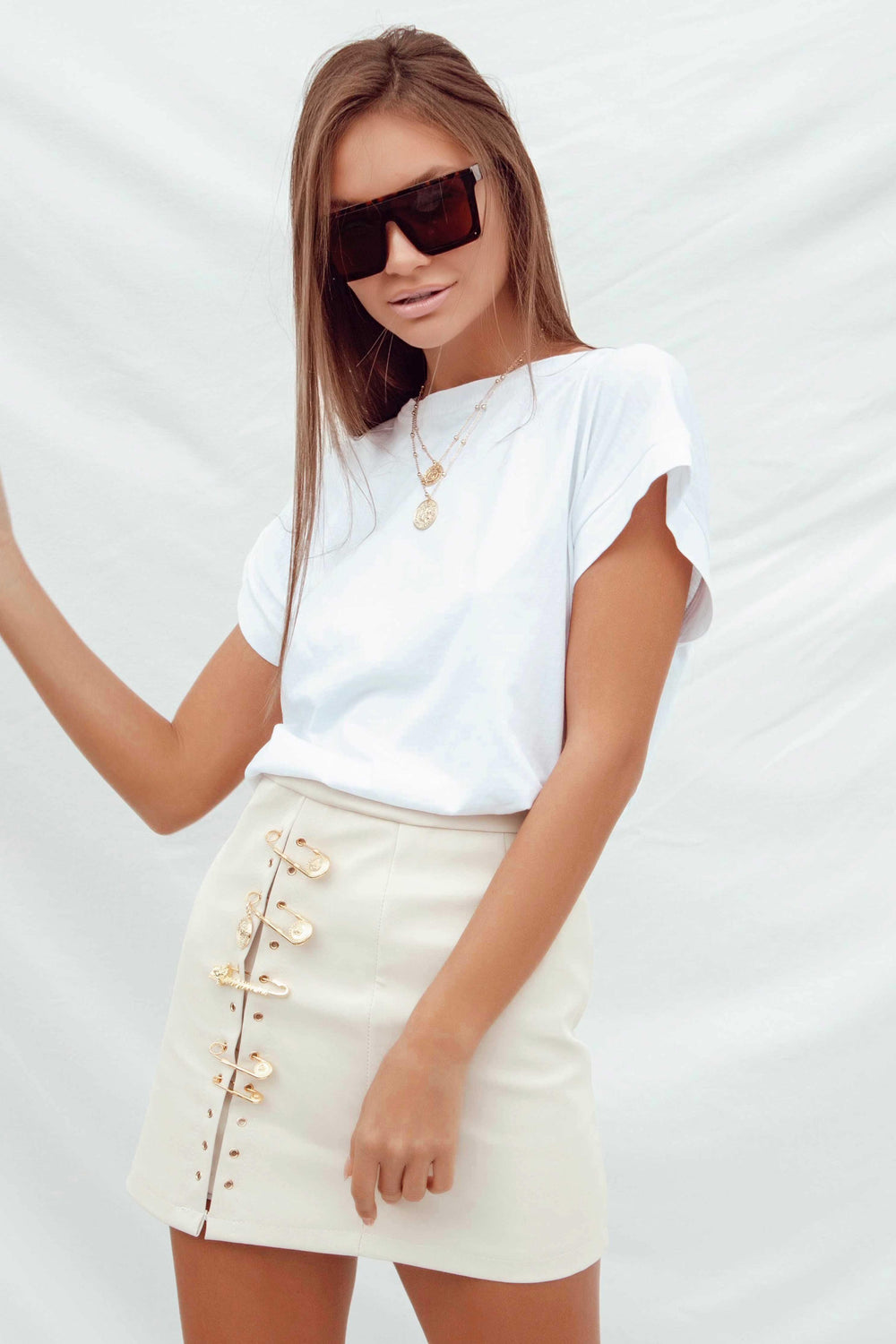 KARLA SKIRT IN BEIGE | Women's Online Shopping | CHICLEFRIQUE