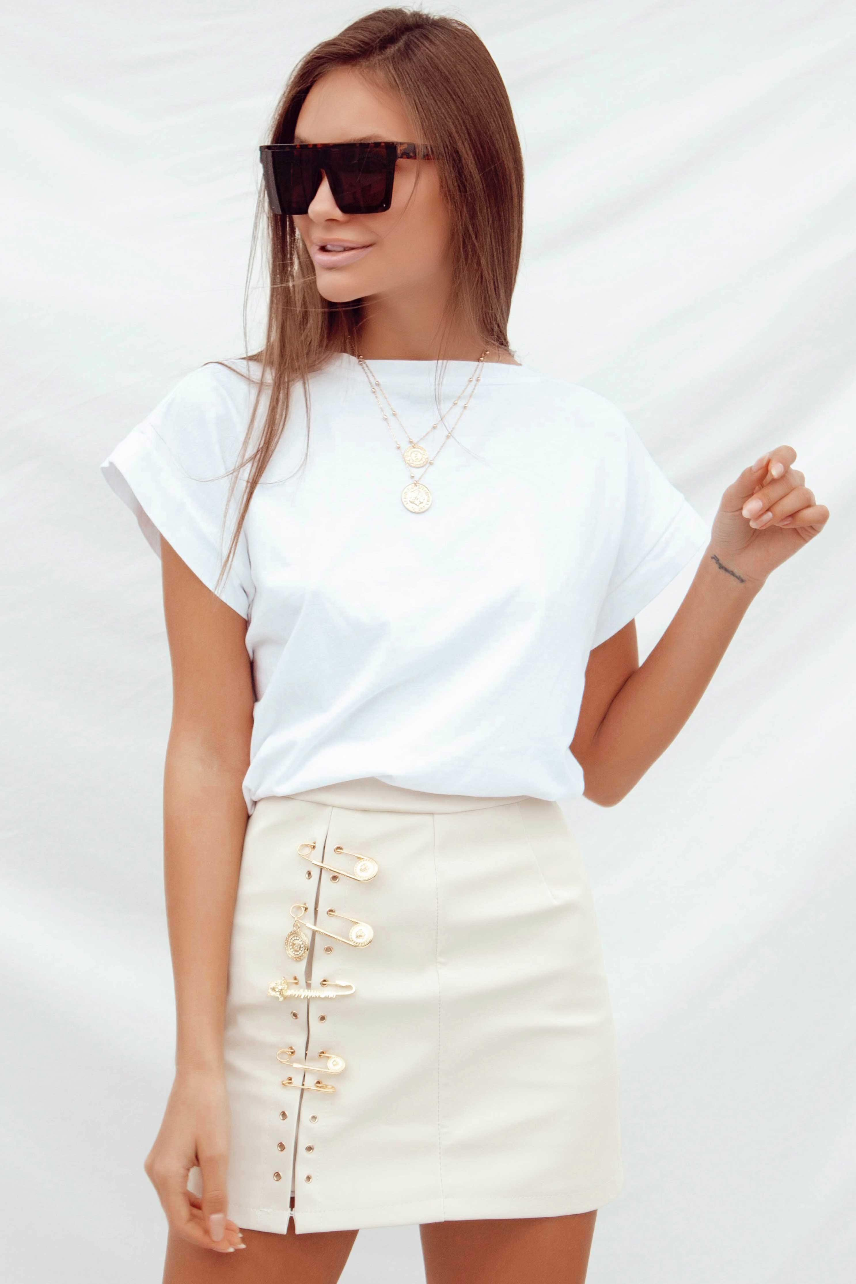KARLA SKIRT IN BEIGE | Women's Online Shopping | CHICLEFRIQUE  (4393940090969)