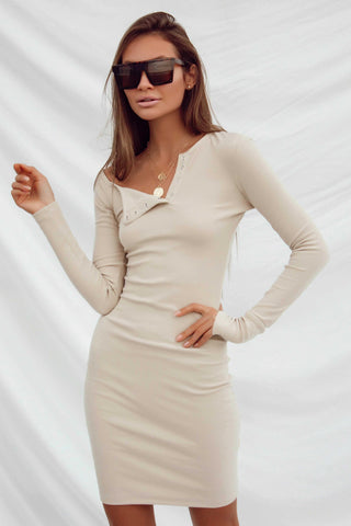 ELLIE KNIT DRESS - GOLD