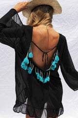 SORENTO BEACH DRESS IN BLACK | Women's Online Shopping | CHICLEFRIQUE