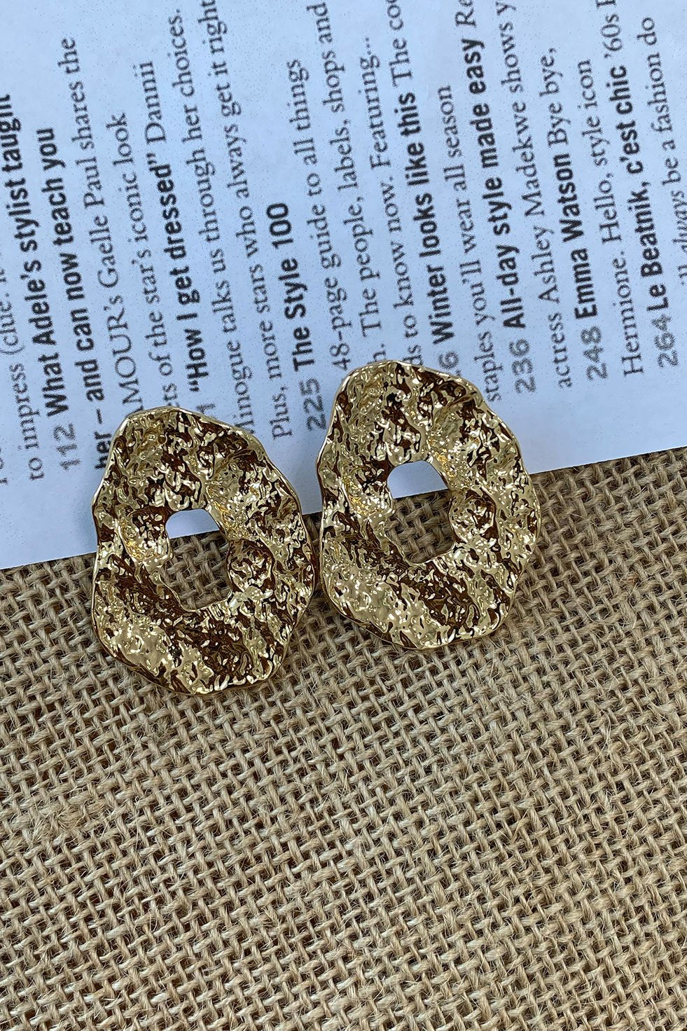 ANCIENT GOLD EARRINGS (6260598571186)