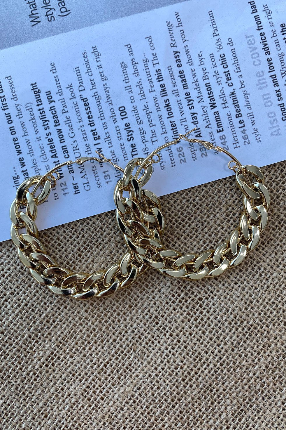 CHAIN OF GOLD EARRINGS (6262670721202)