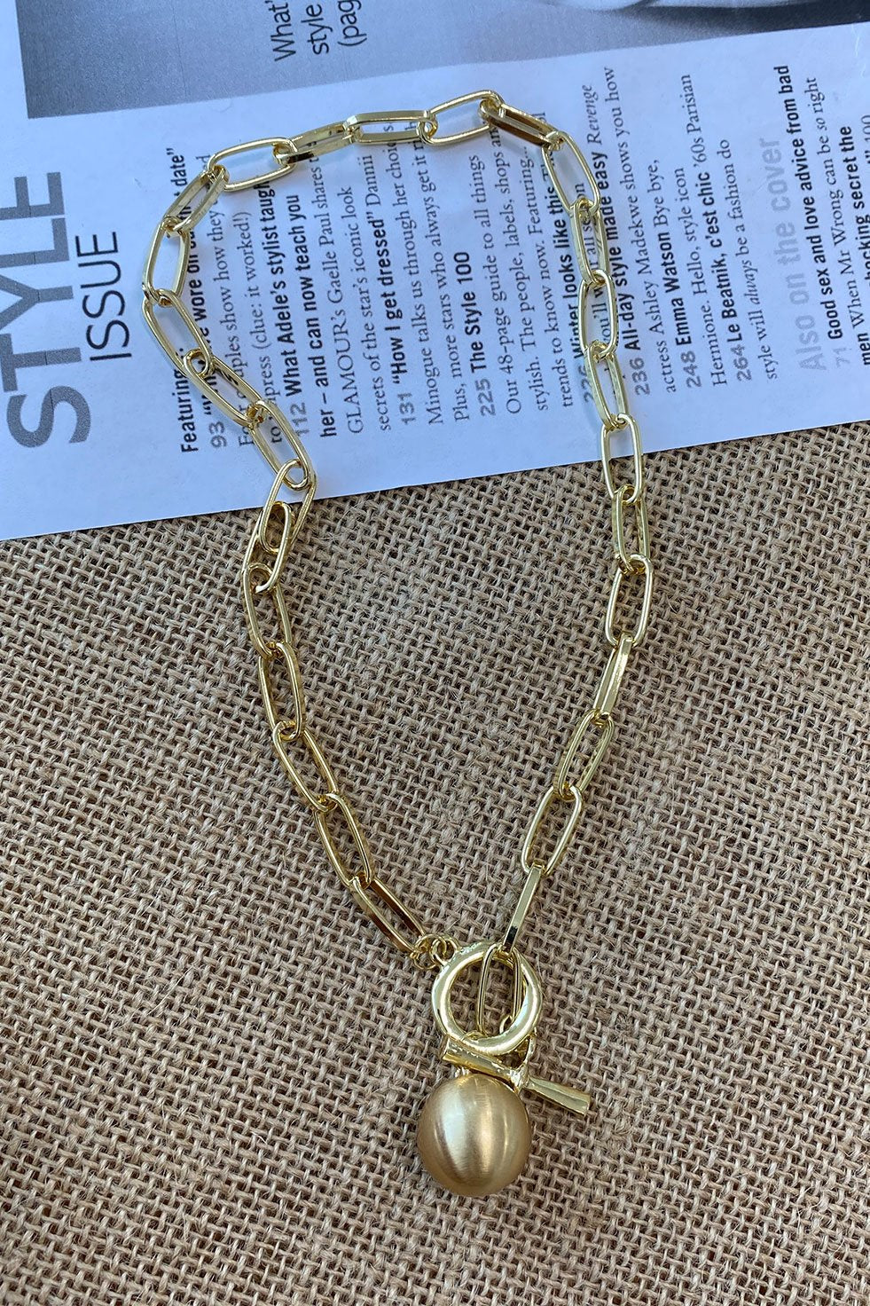 GOLDEN CHAIN NECKLACE (6262654173362)