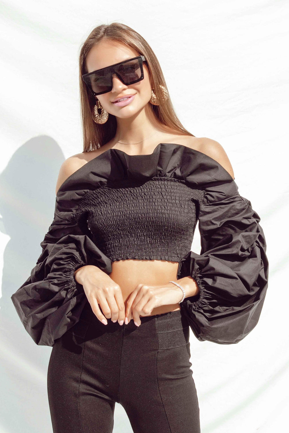 FRANCINE TOP IN BLACK - Chic Le Frique