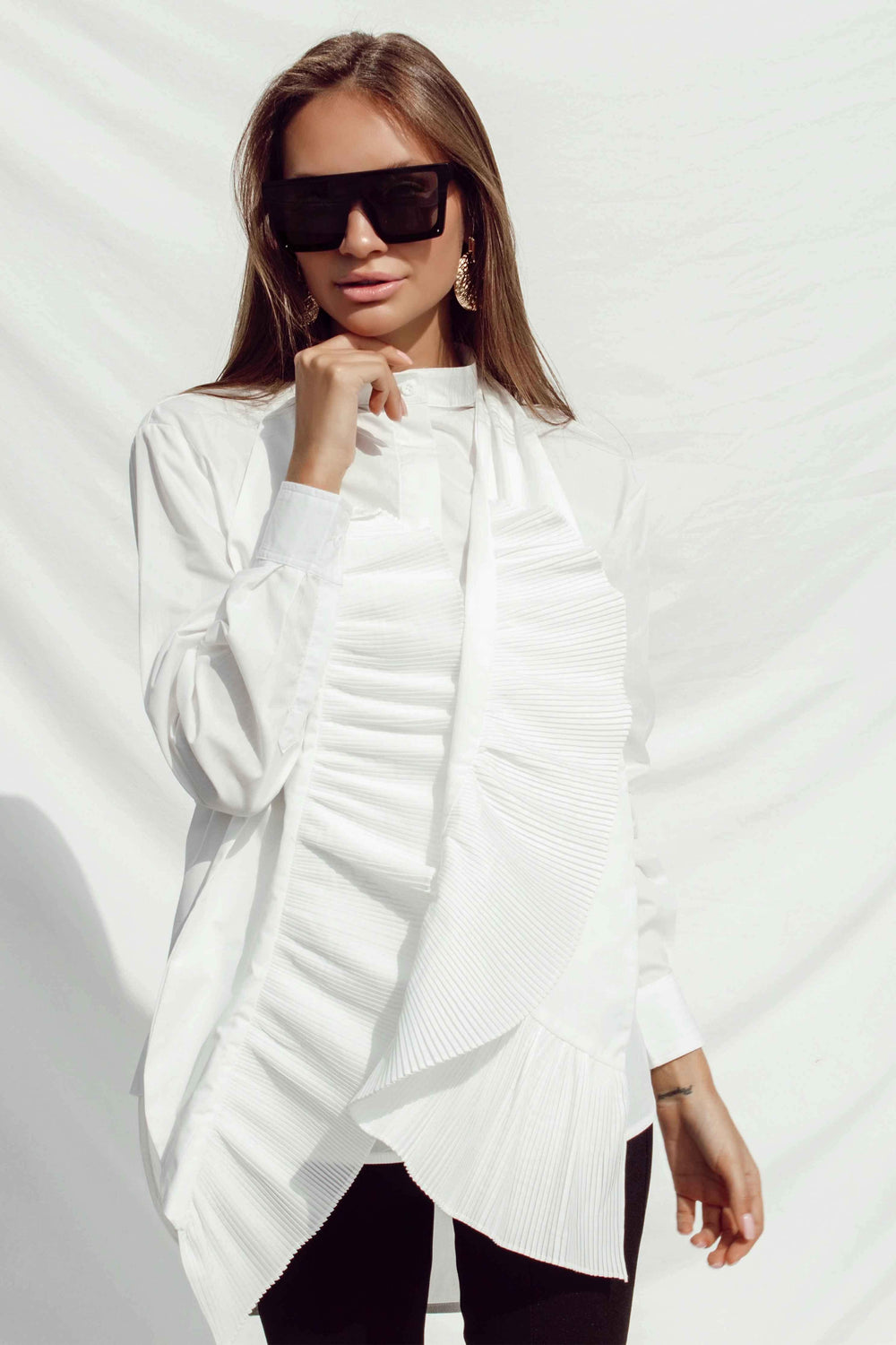 ZAHAVA SHIRT IN WHITE - Chic Le Frique