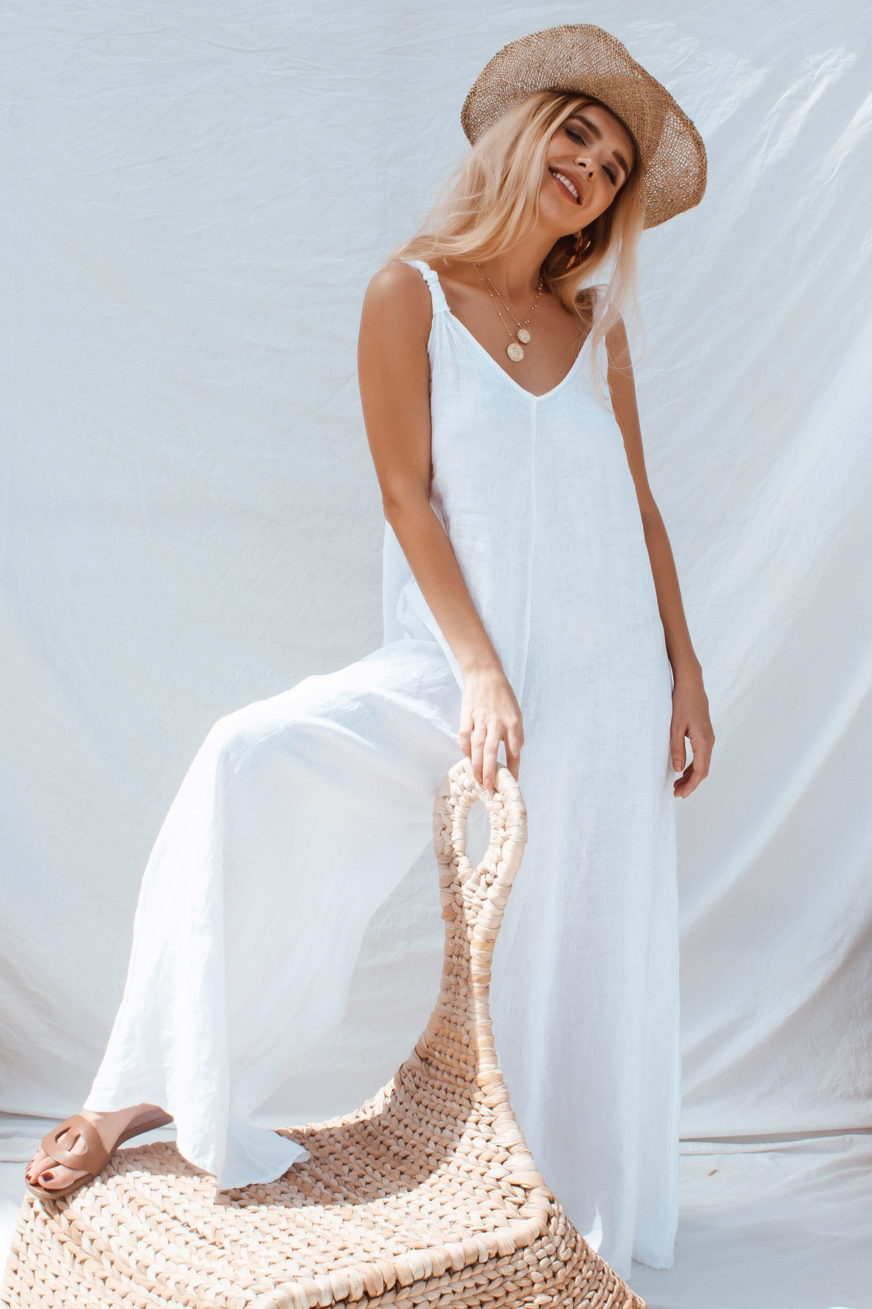 APOLLO JUMPSUIT IN WHITE | Women's Online Shopping | CHICLEFRIQUE  (2163878330457)