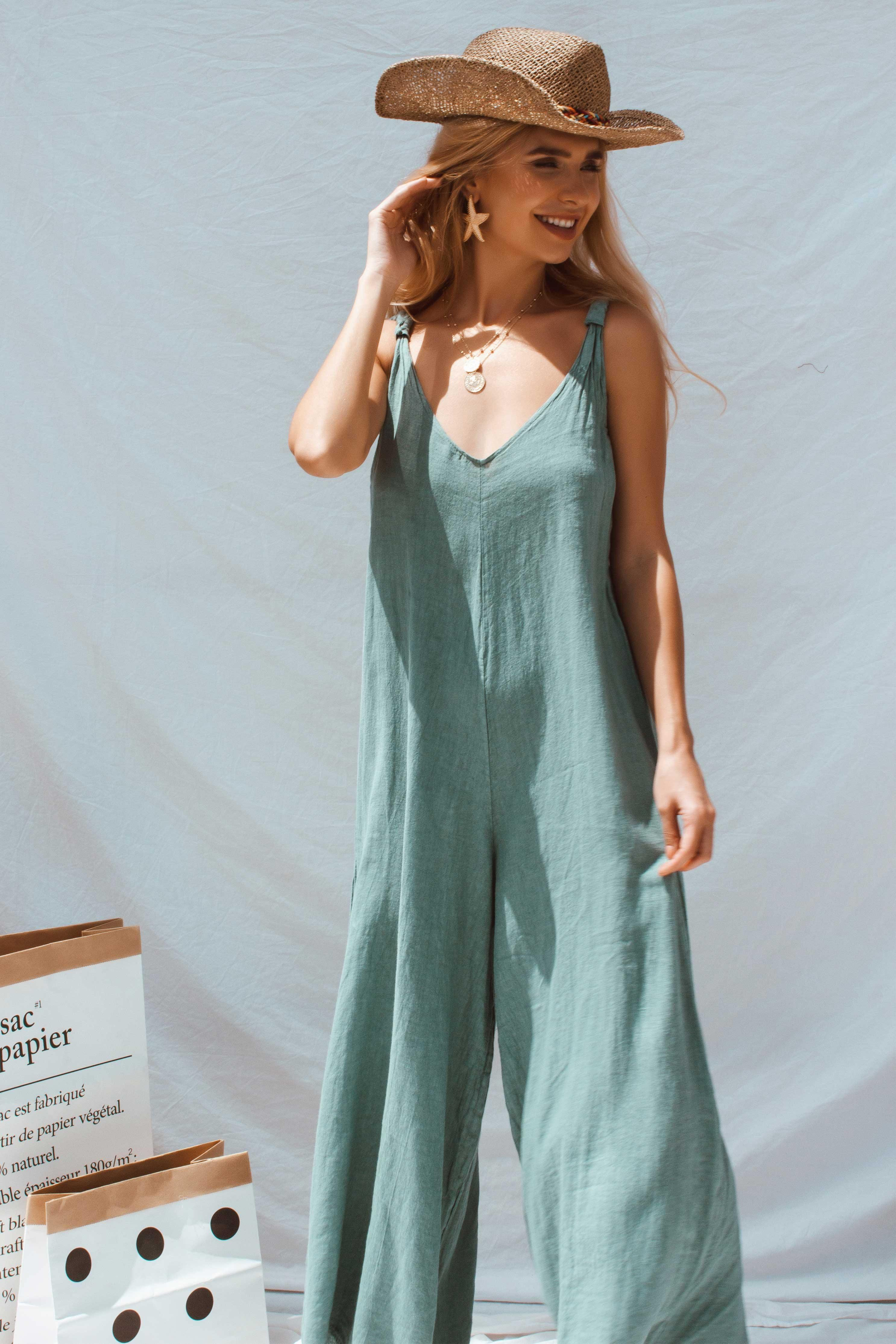 APOLLO JUMPSUIT IN GREEN | Women's Online Shopping | CHICLEFRIQUE  (2163878395993)