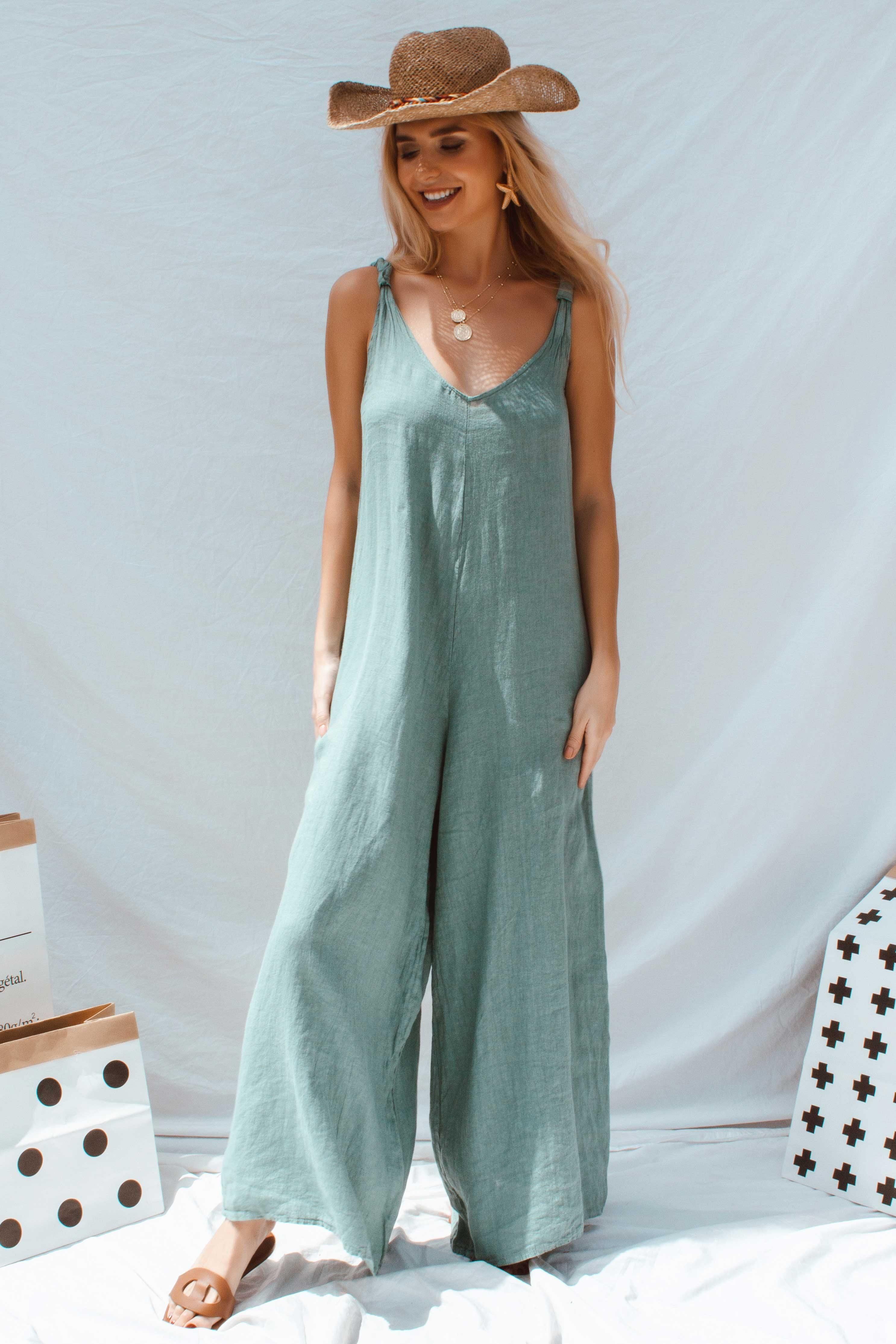 APOLLO JUMPSUIT IN GREEN | Women's Online Shopping | CHICLEFRIQUE
