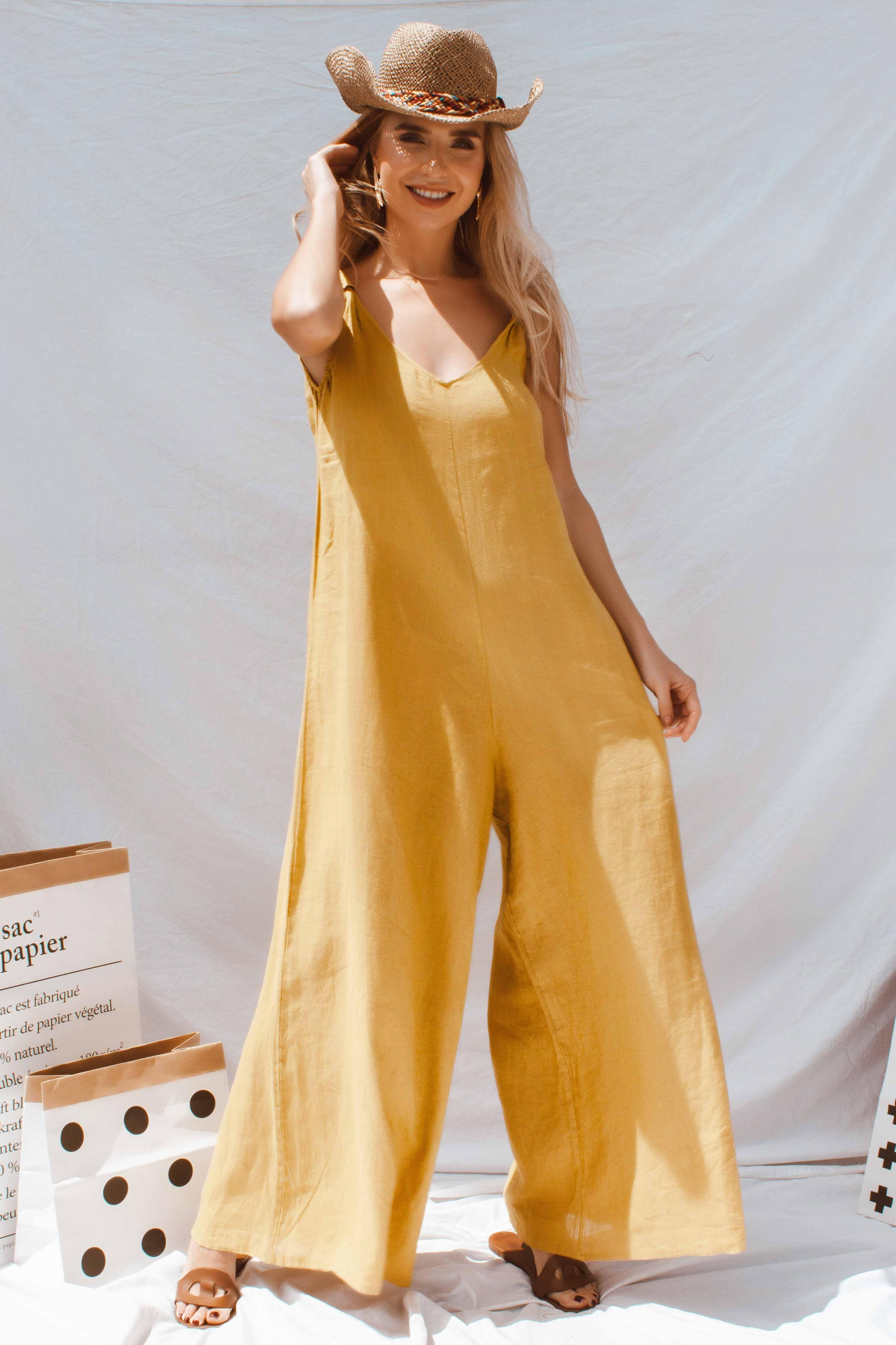 APOLLO JUMPSUIT IN YELLOW | Women's Online Shopping | CHICLEFRIQUE  (2165075017817)