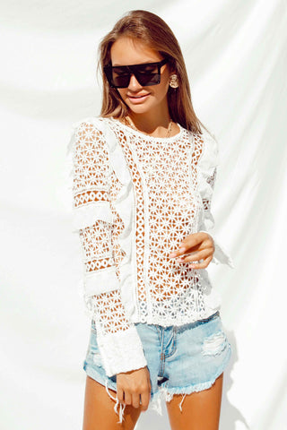 ABELLA BLOUSE IN WHITE