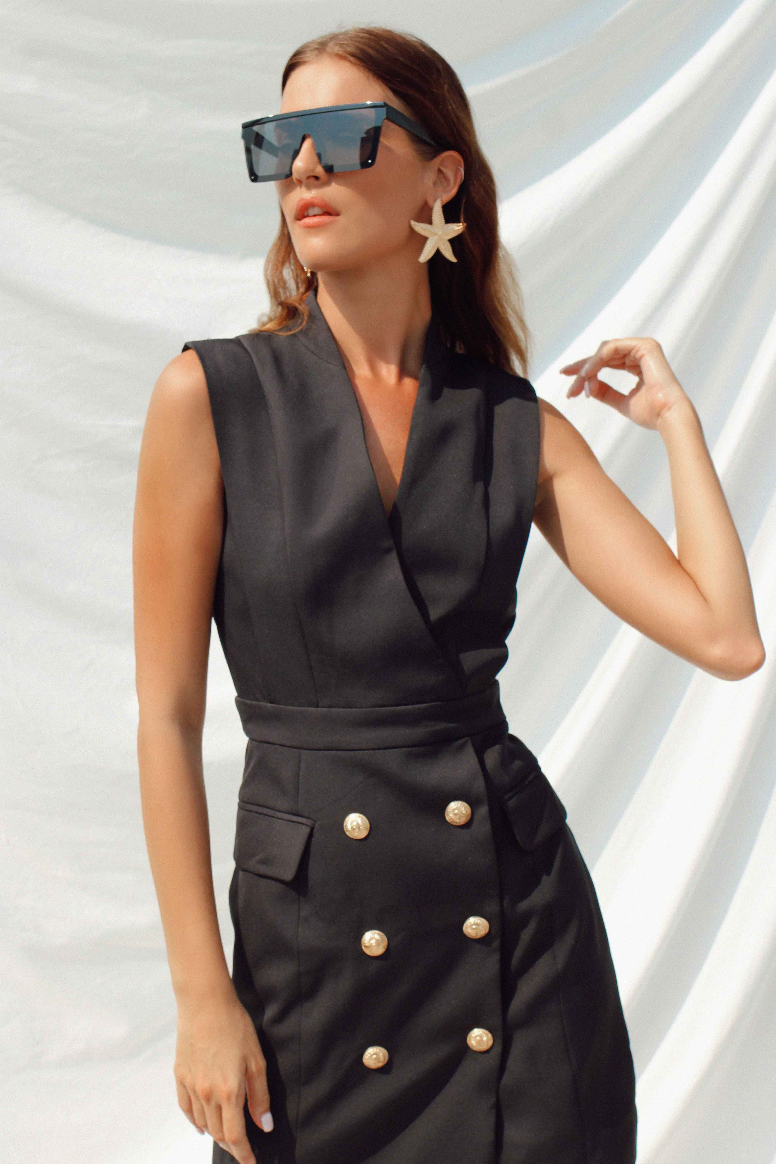 TORI DRESS IN BLACK | Women's Online Shopping | CHICLEFRIQUE  (2166970187865)