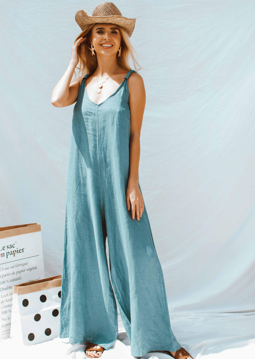 APOLLO JUMPSUIT IN BLUE | Women's Online Shopping | CHICLEFRIQUE