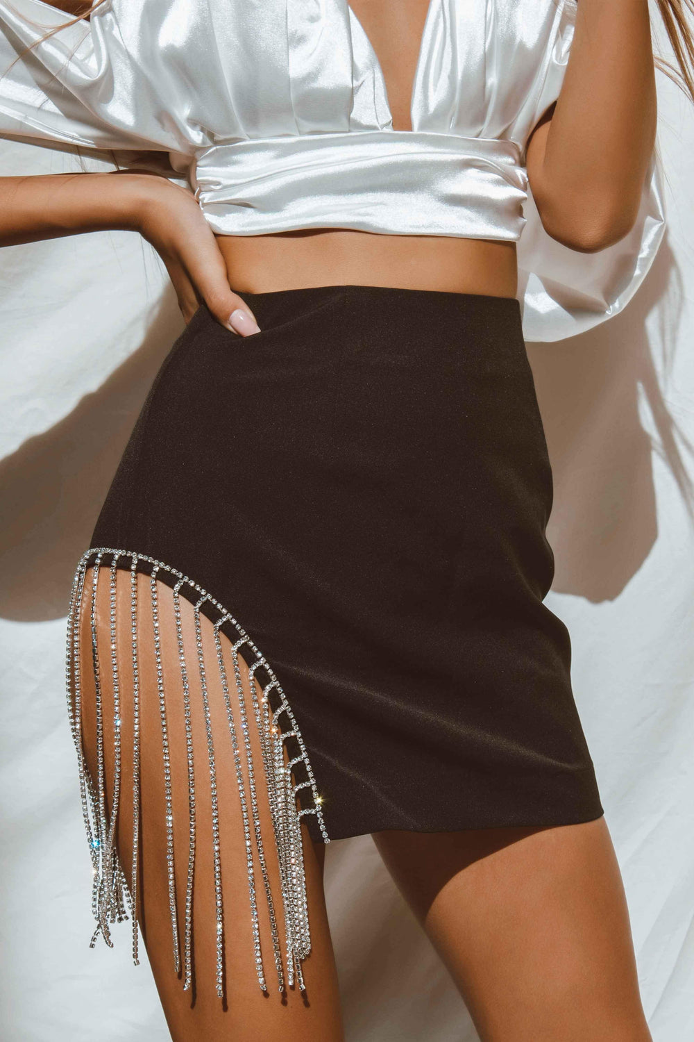 ZINNIA SKIRT IN BLACK | Women's Online Shopping | CHICLEFRIQUE  (4438216736857)