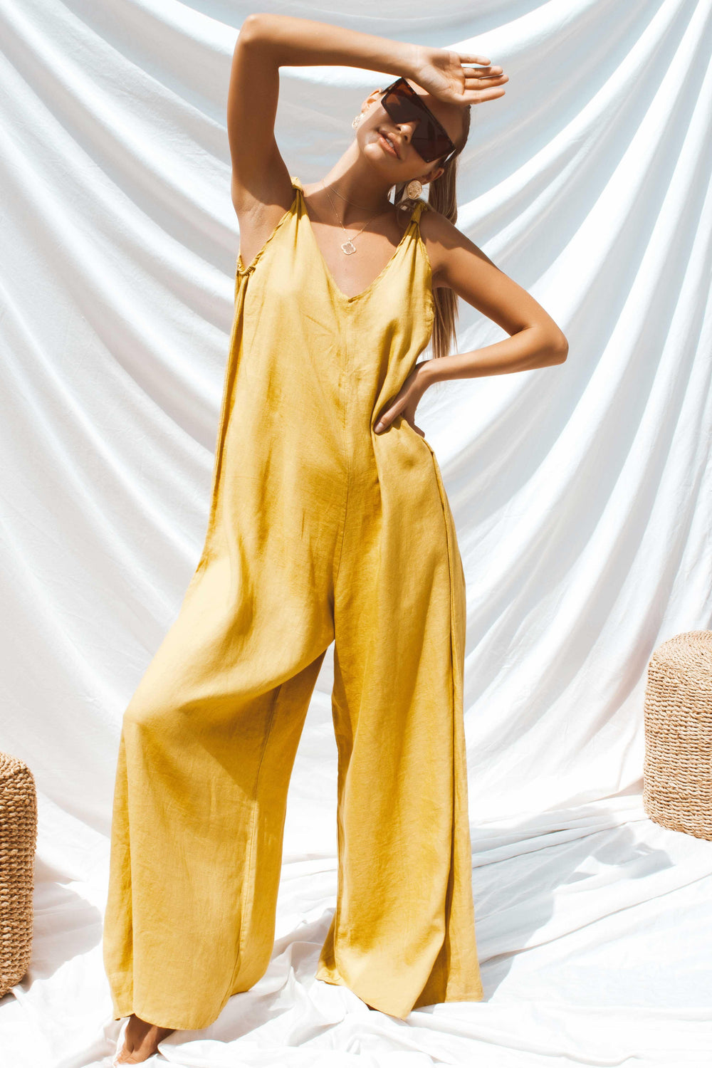 APOLLO JUMPSUIT IN YELLOW | Women's Online Shopping | CHICLEFRIQUE
