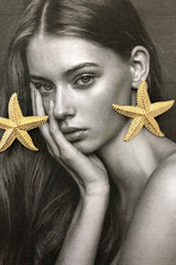 SEA STAR STUD EARRINGS | Women's Online Shopping | CHICLEFRIQUE  (2178792620121)