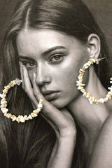 REINA STONE HOOP EARRINGS | Women's Online Shopping | CHICLEFRIQUE