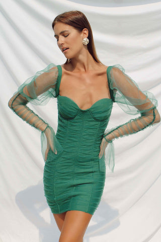 NEVADA DRESS IN GREEN
