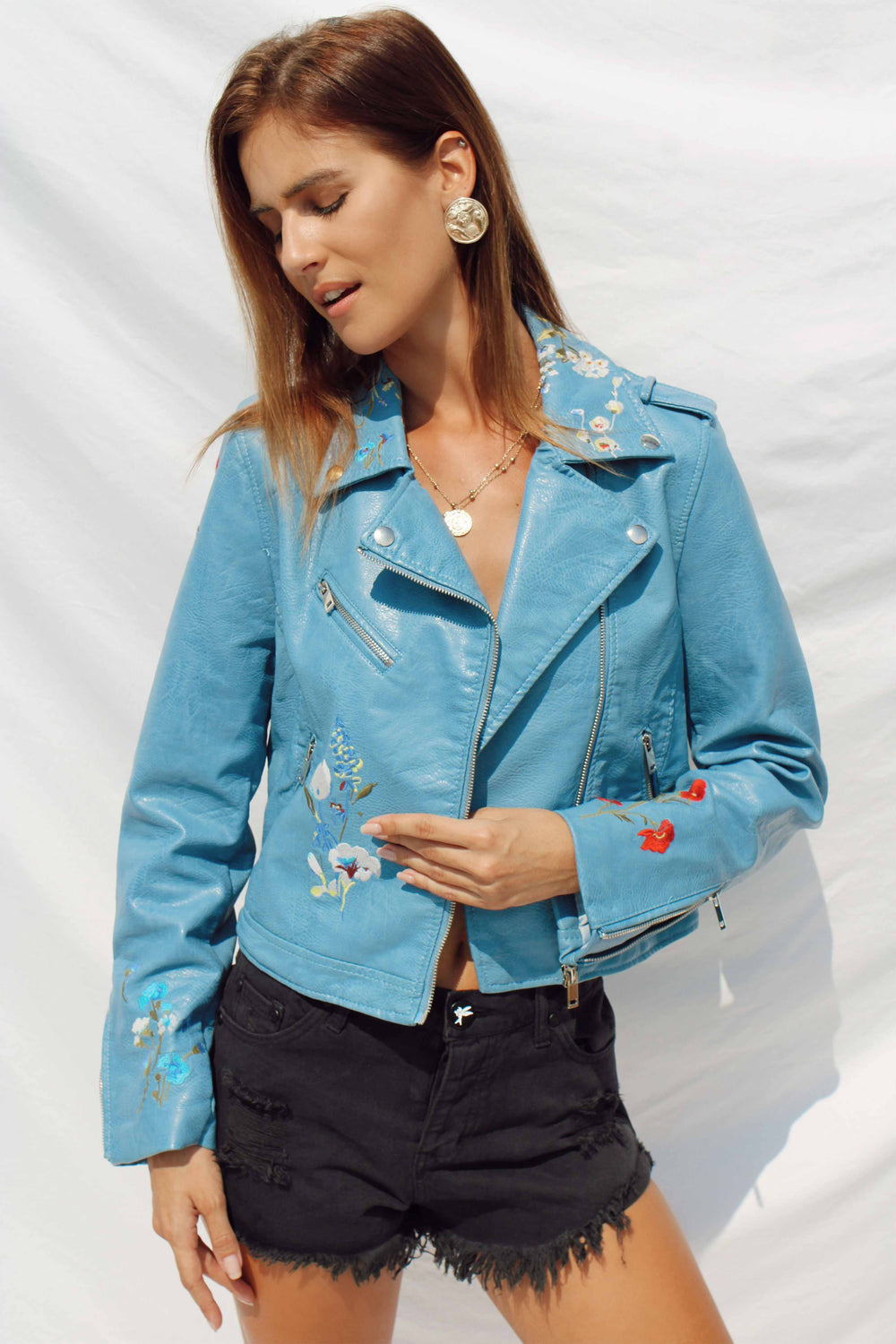 DIYA LEATHER JACKET | Women's Online Shopping | CHICLEFRIQUE  (1965845446745)