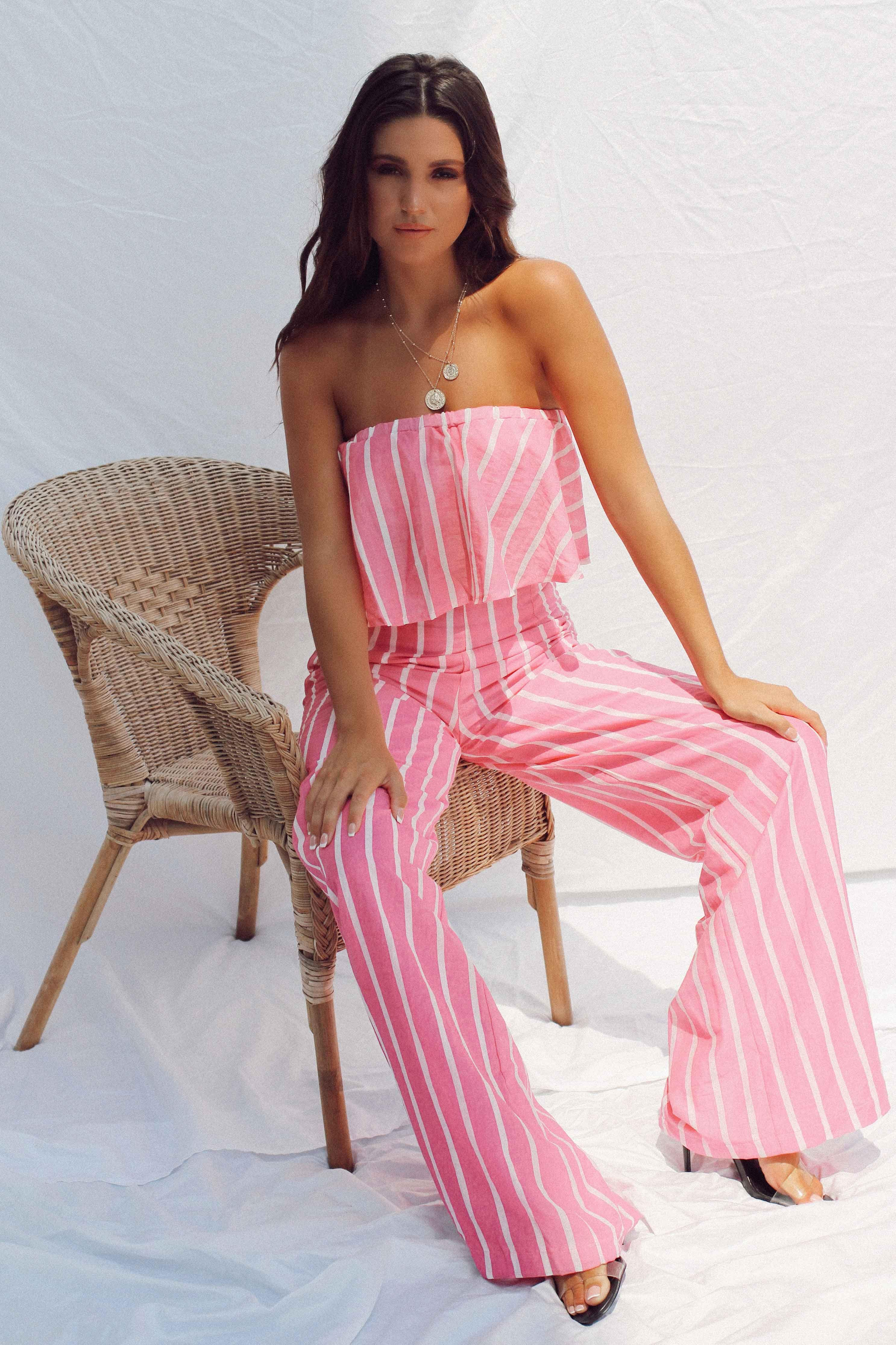 ANALIA JUMPSUIT IN PINK | Women's Online Shopping | CHICLEFRIQUE