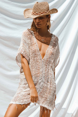 TAFFY BEACH DRESS IN BEIGE