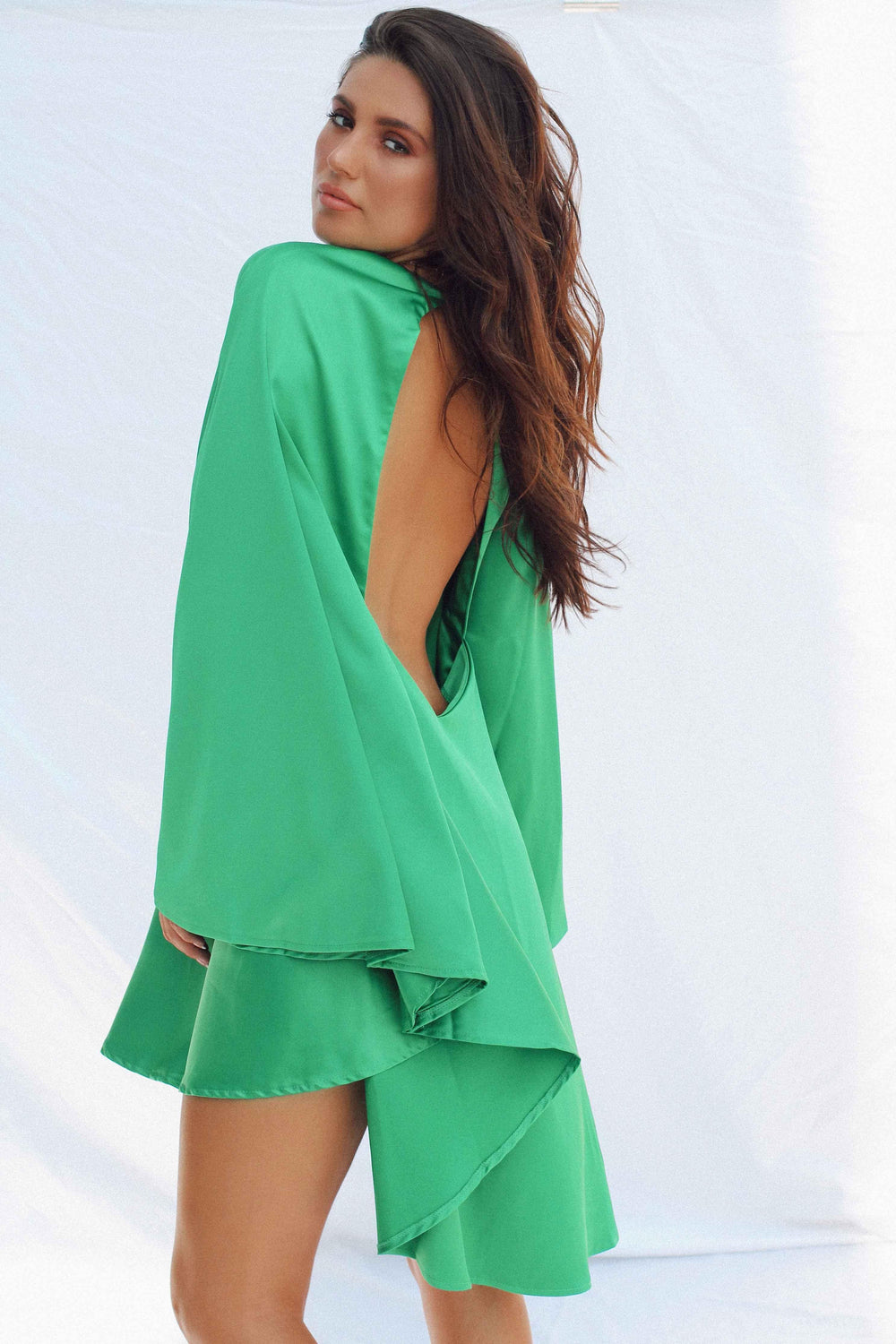 AZRA BACKLESS DRESS IN GREEN | Women's Online Shopping | CHICLEFRIQUE  (1965764509785)