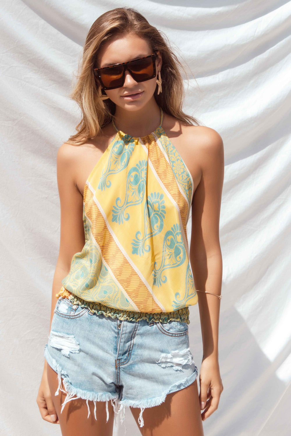 BELLE TOP IN YELLOW | Women's Online Shopping | CHICLEFRIQUE