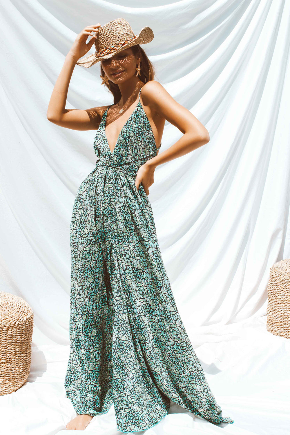 THELMA DRESS IN GREEN - Chic Le Frique