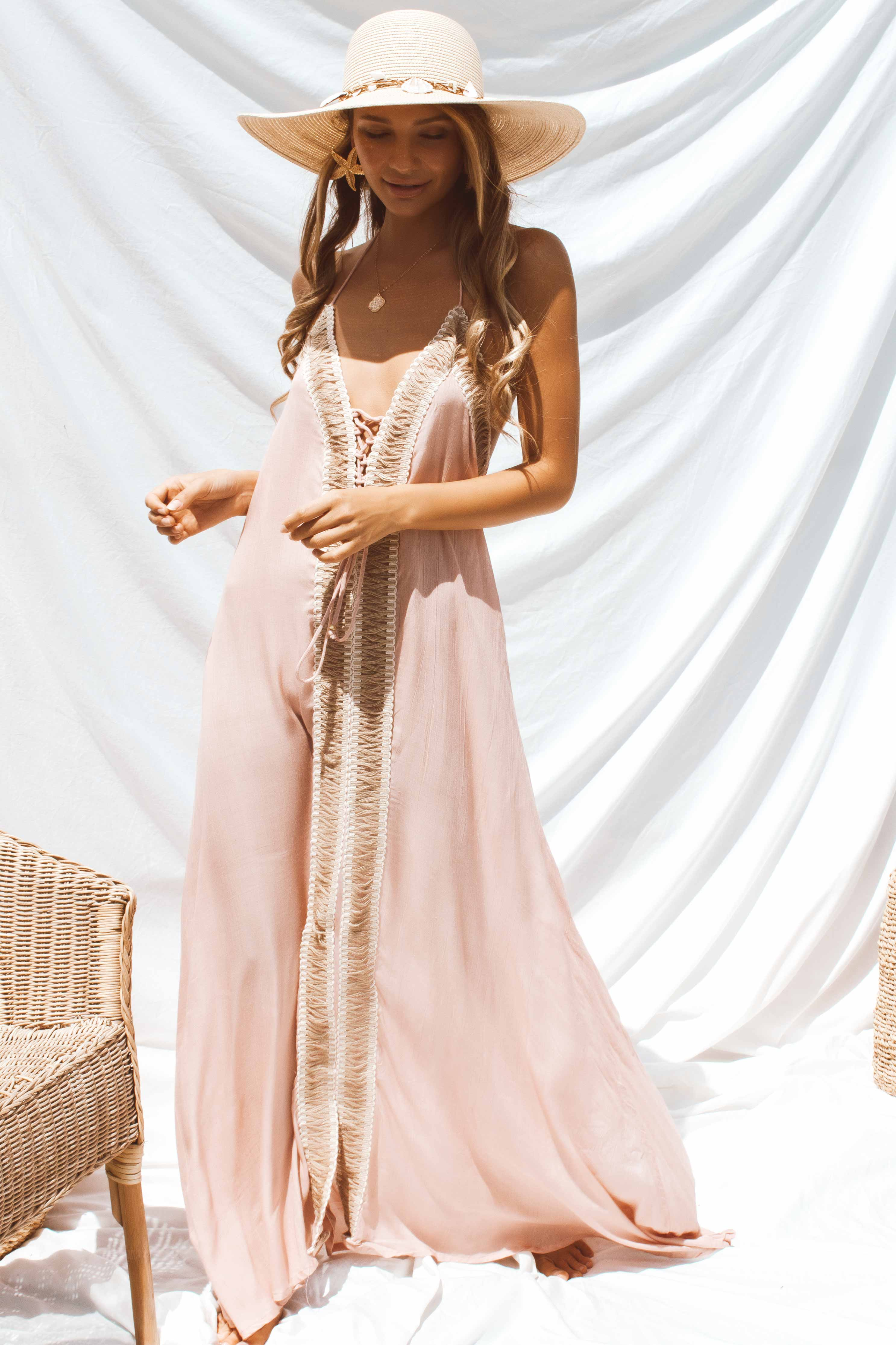 NEVADA DRESS IN PINK - Chic Le Frique