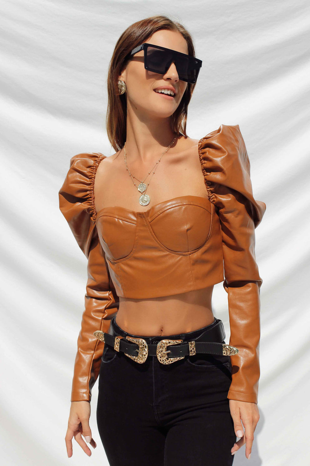 GISELLE TOP IN TAN | Women's Online Shopping | CHICLEFRIQUE  (4351410208857)