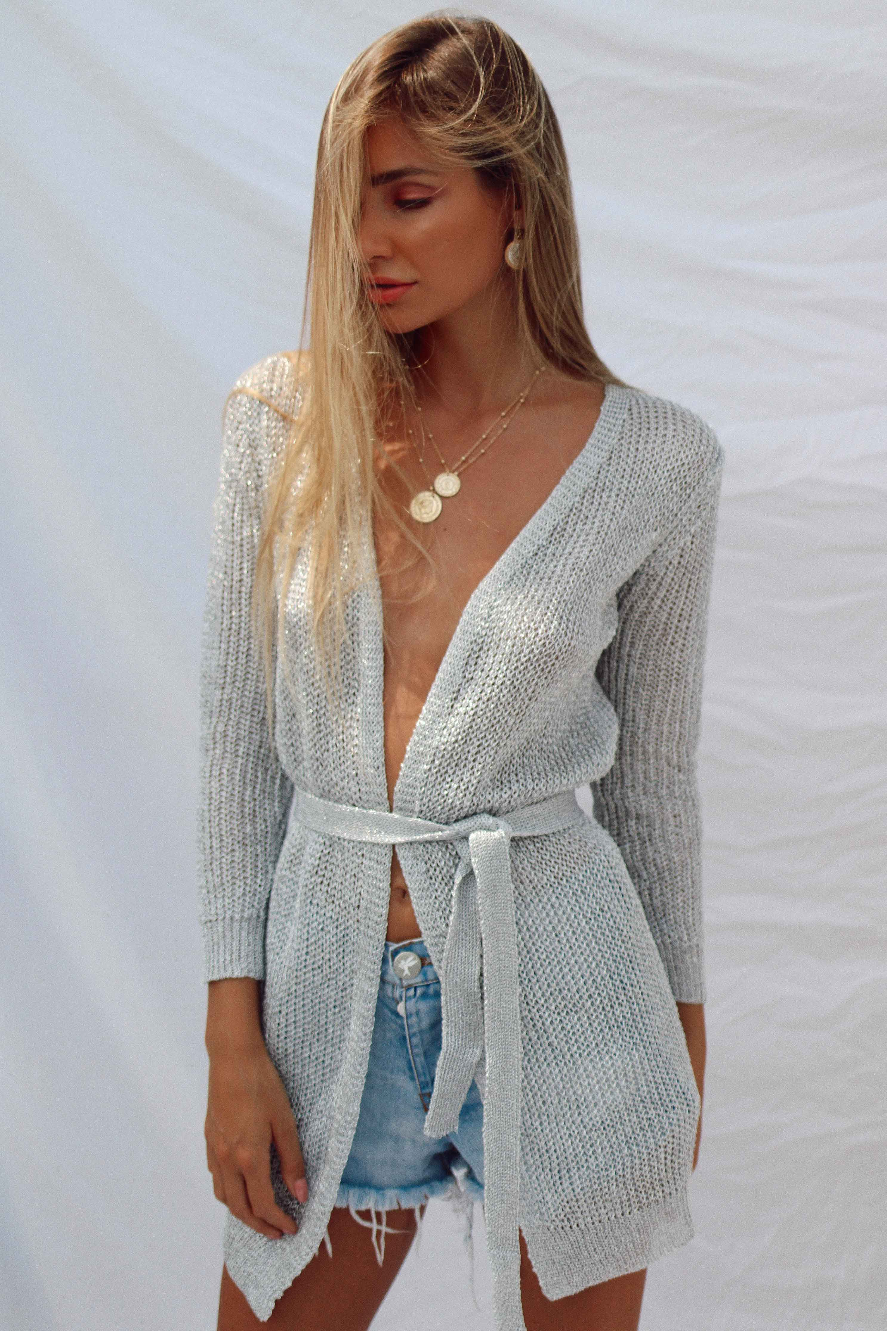 XIMENA TOP IN SILVER - Chic Le Frique