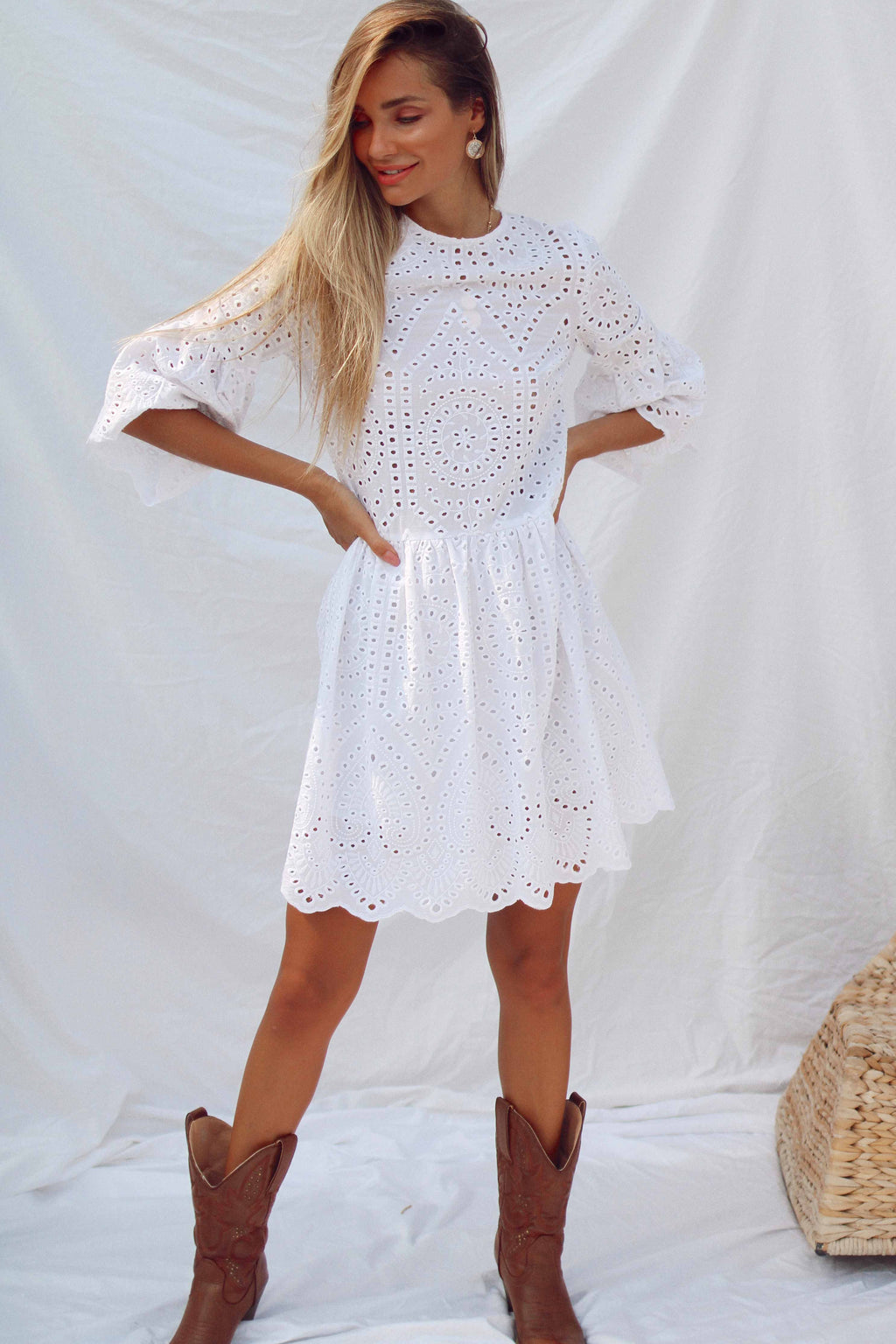 ROYA DRESS IN WHITE | Women's Online Shopping | CHICLEFRIQUE  (2072086184025)
