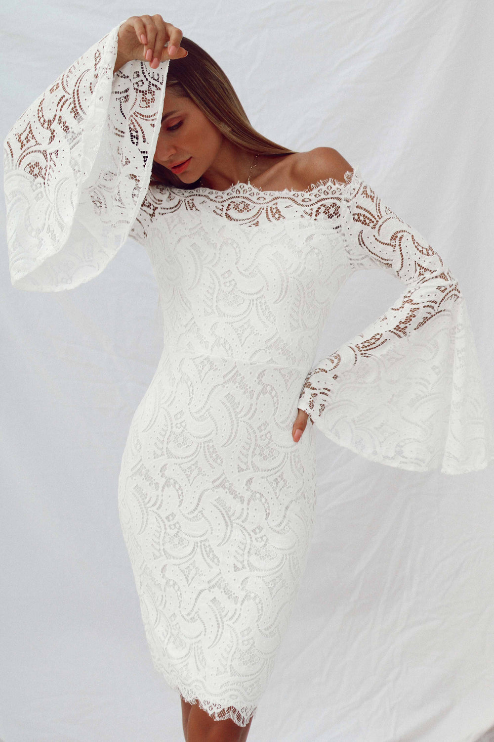 MIRELLA DRESS IN WHITE - Chic Le Frique