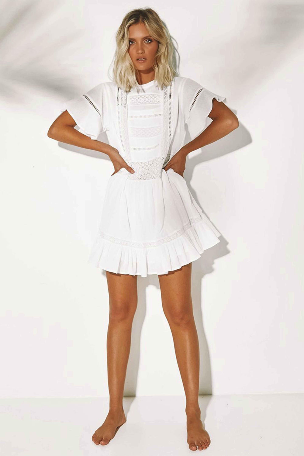 WING DRESS - WHITE (4493781827673)