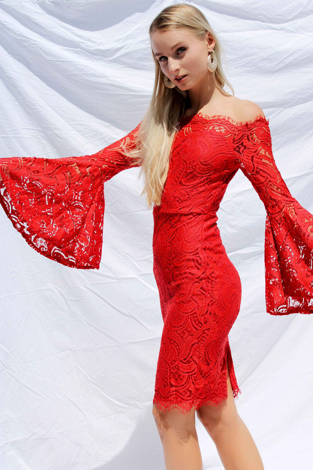 MIRELLA DRESS IN RED - Chic Le Frique