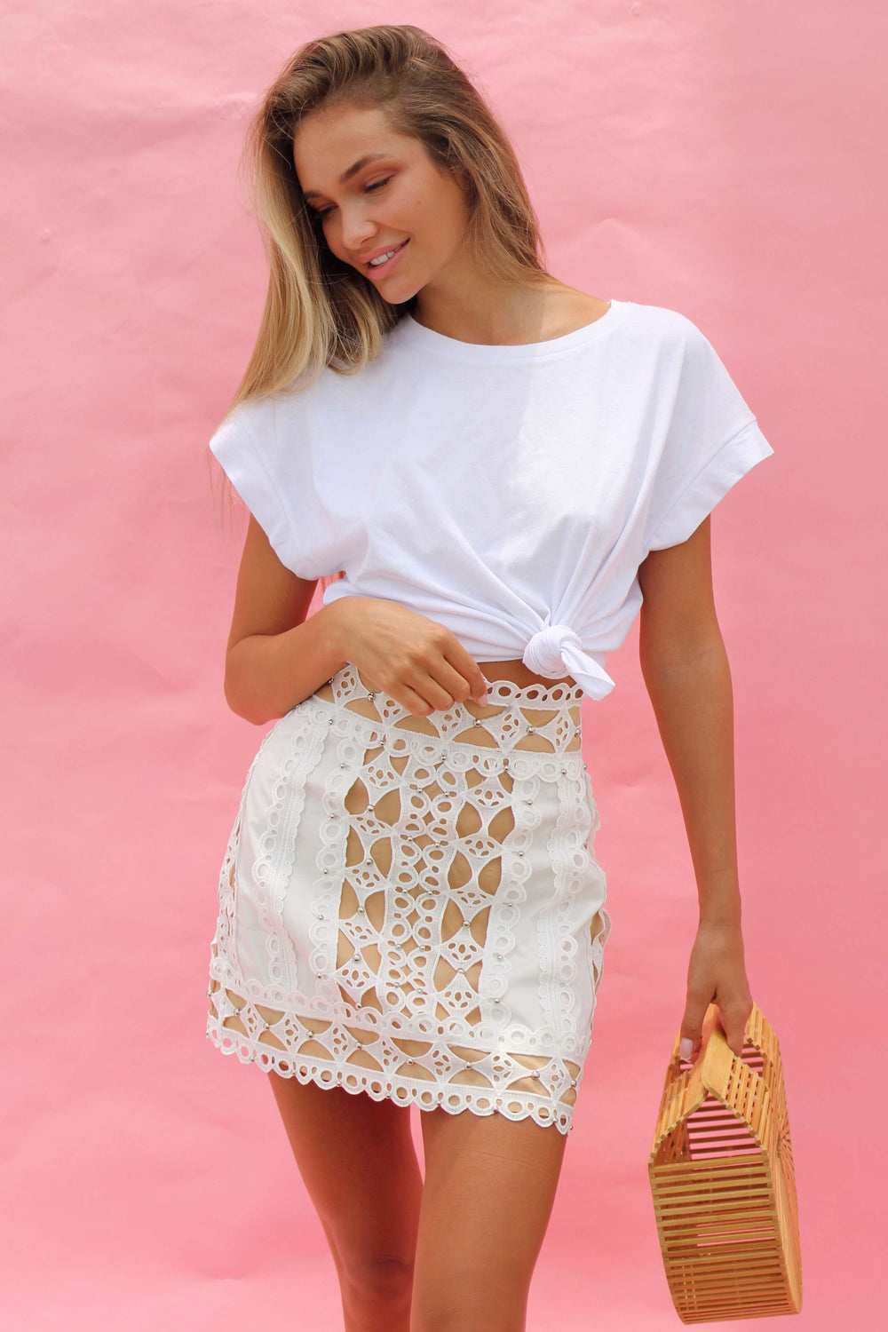 AYA SKIRT IN WHITE | Women's Online Shopping | CHICLEFRIQUE  (2143270404185)