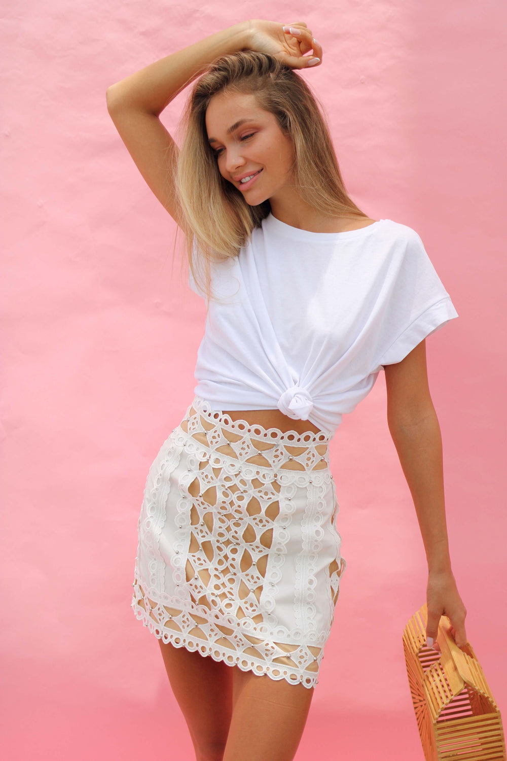 AYA SKIRT IN WHITE - Chic Le Frique