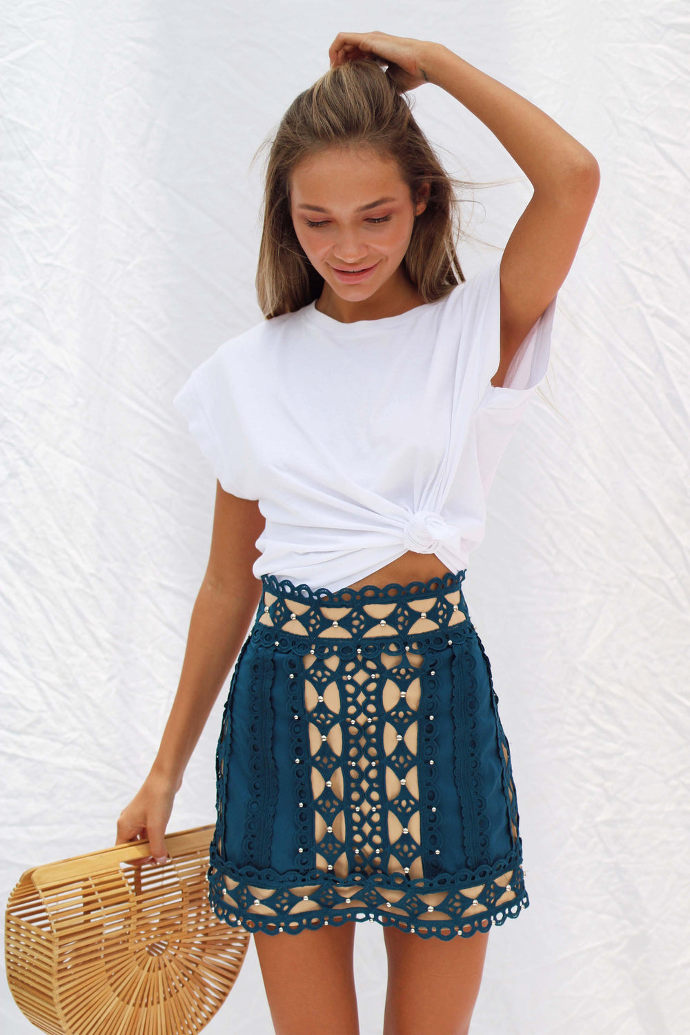 AYA SKIRT IN BLUE - Chic Le Frique